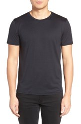 Theory Men's Silk And Cotton Crewneck T Shirt Eclipse