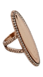 House Of Harlow Geodesic Cocktail Ring Rose Gold