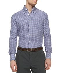 Brunello Cucinelli Check Long Sleeve Sport Shirt C035