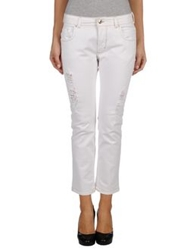 Patrizia Pepe Denim Pants White