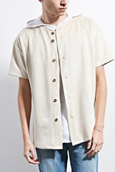 Forever 21 Eptm. Suede Baseball Jersey Tan
