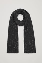Cos Speckled Cashmere Scarf Black