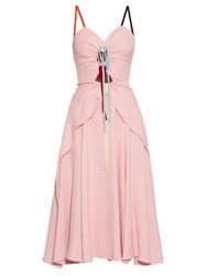 Rosie Assoulin Holy Moley Cut Out Cady Midi Dress Light Pink