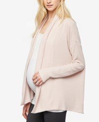 A Pea In The Pod Maternity Open Front Cardigan Antique Blush