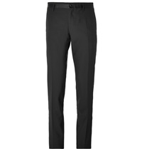 Dolce And Gabbana Slim Fit Wool Tuxedo Trousers Black
