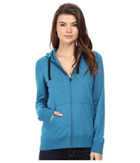 Hurley Staple Icon Fleece Zip Hoodie Heather Green Abyss Women's Fleece Blue