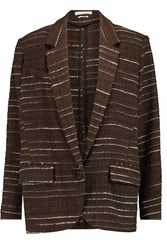 Etoile Isabel Marant Gil Cotton Blend Tweed Blazer Brown