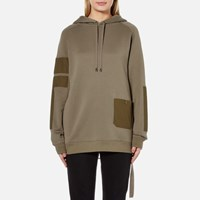 Helmut Lang Women's Patch Pocket Sweatshirt Vintage Marsh Green