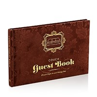 Knock Knock Couch Guest Book Brown