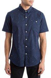 7 Diamonds Men's Brand New Moves Print Woven Shirt