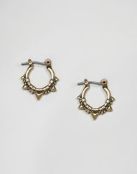 Asos Triangle Spike Hoop Earring Gold