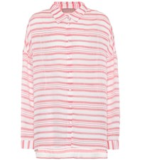81 Hours Federic Striped Shirt White
