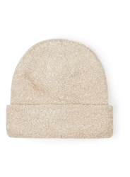 Topman Cream Boucle Textured Beanie Hat