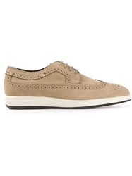 Tod's Brogue Detailed Sneakers Nude And Neutrals