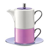 Lsa International Polka Tea For One And Saucer Pastel
