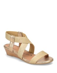 Sofft Imala Criss Cross Slingback Sandals Gold