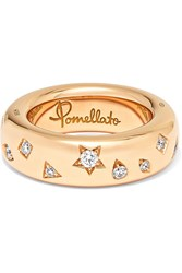 Pomellato 18 Karat Rose Gold Diamond Ring 13