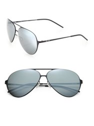 Italia Independent I Thin 59Mm Metal Aviator Sunglasses Black Silver