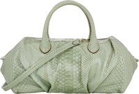 Zagliani Python Mya Medium Shoulder Bag Green