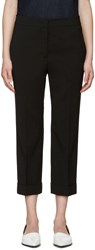 Jil Sander Black Wool Cuffed Trousers