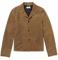 Saint Laurent Suede Western Jacket Tan