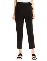 Vince Camuto Fold Over Front Tie Pants Black