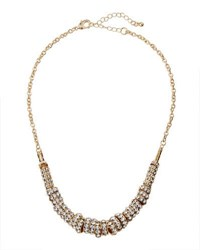 Fragments For Neiman Marcus Pave Crystal Ring Necklace Gold