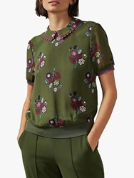 Ted Baker Cleiss Top Khaki Multi