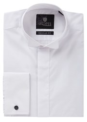 Skopes Wing Collar Plain Dress Shirt White