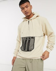 Liquor N Poker Over Head Borg Hoodie With Pocket Detail In Stone