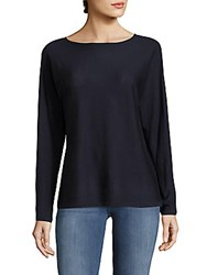 Saks Fifth Avenue Heathered Boatneck Top Light Grey