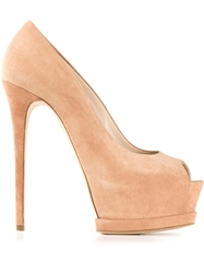 Gianmarco Lorenzi Classic Platform Pumps Nude And Neutrals