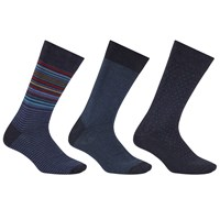 John Lewis Made In Italy Egyptian Cotton Socks Pack Of 3 Blue