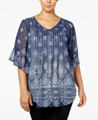 Styleandco. Style Co. Plus Size Printed Pintuck Blouse Only At Macy's Mesmorizing Medallion