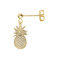 Cartergore Gold Pineapple Single Short Drop Earring