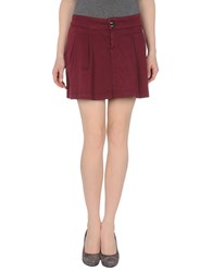 Guess Jeans Skirts Mini Skirts Women Garnet