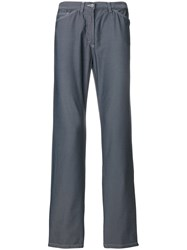 Versace Vintage Stitching Details Trousers Grey