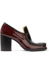 Acne Studios Kenia Two Tone Patent Leather Pumps Burgundy