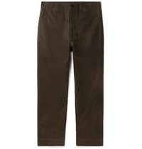 Margaret Howell Cotton Drill Trousers Green