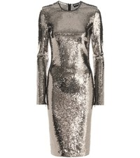 Tom Ford Sequin Embellished Dress Silver