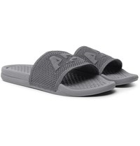 Apl Athletic Propulsion Labs Techloom Logo Embossed Slides Gray