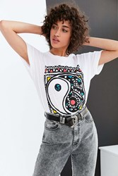Truly Madly Deeply Mosaic Yin Yang Tee White