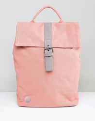 Mi Pac Fold Top Canvas Backpack In Rose Pink Pink