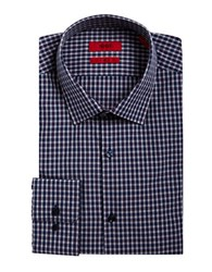 Hugo Gingham Dress Shirt Navy