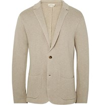Club Monaco Ecru Knitted Linen And Cotton Blend Blazer Neutrals