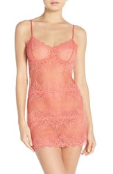Only Hearts Club Women's Only Hearts 'So Fine' Lace Chemise Papaya