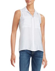 Calvin Klein Jeans Sleeveless Colorblocked Top White