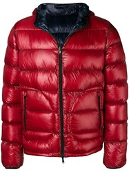 Herno Zipped Padded Jacket Red