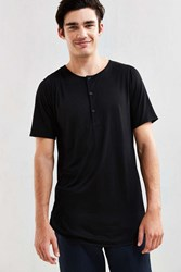 Publish Tet Scalloped Henley Tee Black