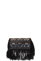 Isabel Marant Shiloh Suede Clutch Black